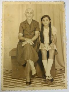 Francisca, esposa Cicero Lero e sua neta Margarete.